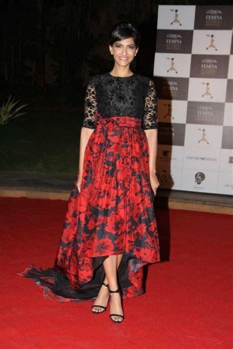 Sonam Kapoor Indian Saree Frock Jeans Fashion