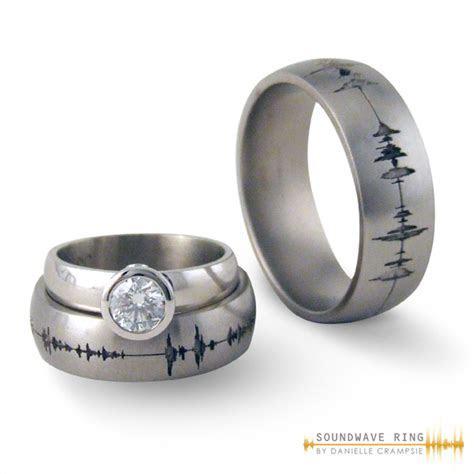 Inexpensive wedding rings: Wedding ring sound wave
