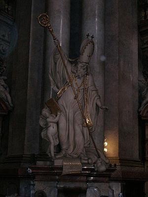 Statue of St. Cyril of Alexandria, St. Nicolas...