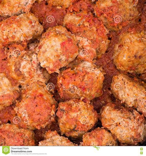 Stewed Meatballs. Food Background And Texture. Stock Photo