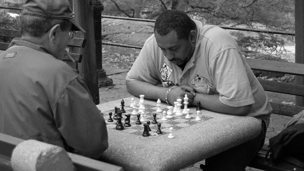 Playing chess in Central Park