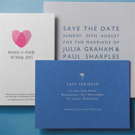 Inspiration for Save The Date Cards   Wedding Stationery