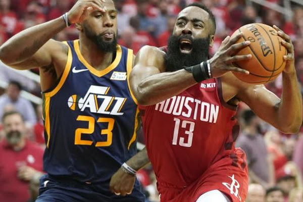 2a6e5aea67e9 Deja vu  Jazz are once again no match for Rockets in Game 2. James Harden s  ...
