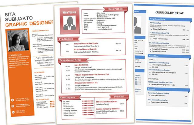 Download Template Cv 2019 Desain Menarik Format Doc Pdf Contohasuransi Rf