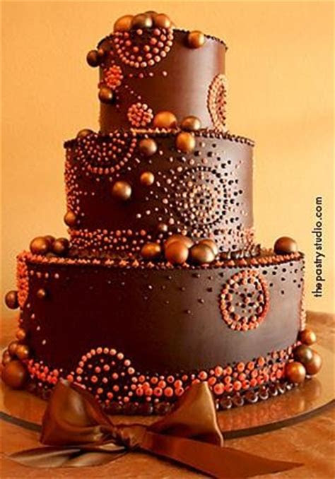 Copper and Chocolate Wedding Cake   A Wedding Cake Blog