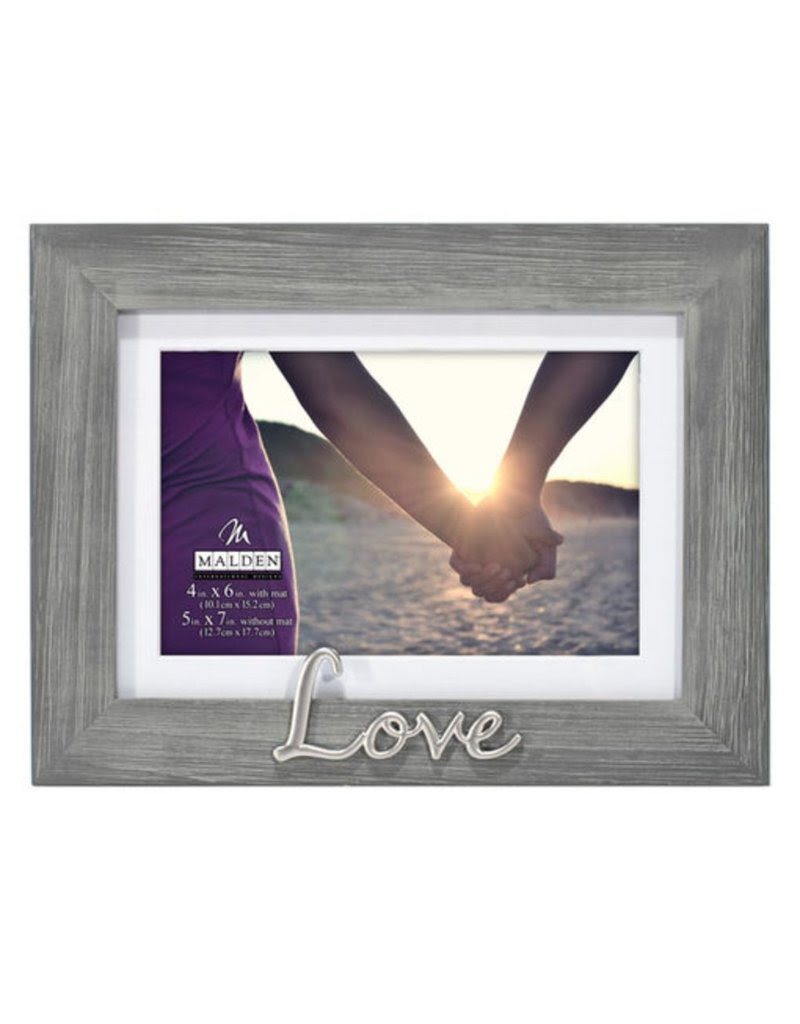 Malden 4x65x7 Love Gray Distressed Gifts And More