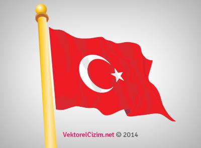 Vektörel çizim Vektörel Türk Bayrağı Görselleri