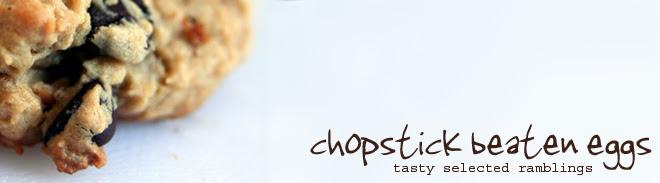 chopstick beaten eggs