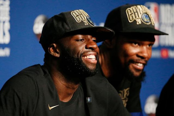 0e9d2ce97b05 Once again, Draymond Green is using a T-shirt to troll LeBron James at the  Warriors' championship parade