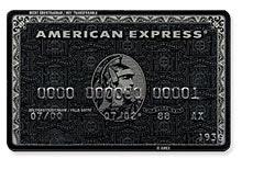 The American Express Centurion Card (AKA The Amex Black Card)