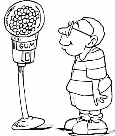 Dibujo De Máquina Expendedora De Dulces Para Colorear Dibujos Para