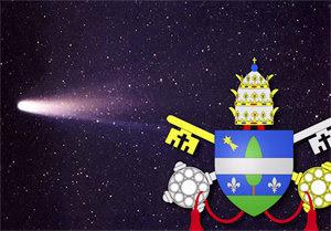 El escudo de armas del Papa León XIII tenía un cometa en el cielo