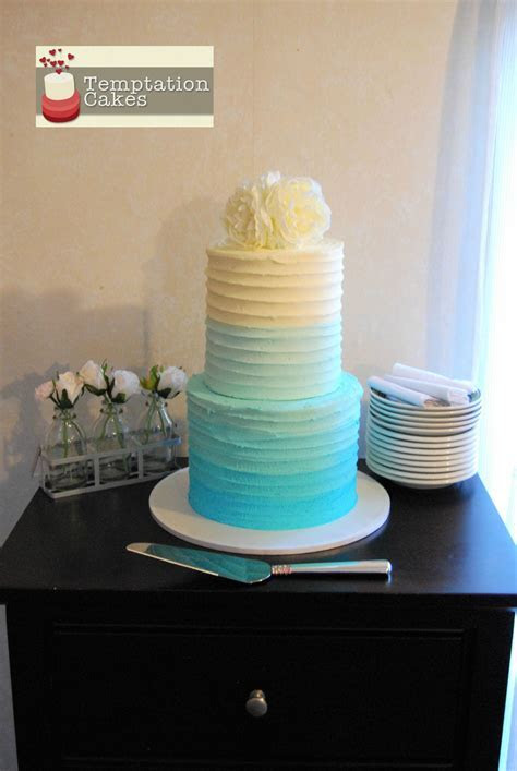 Ombre Wedding Cake Auckland in 8 and 6 inch 4 layer $295