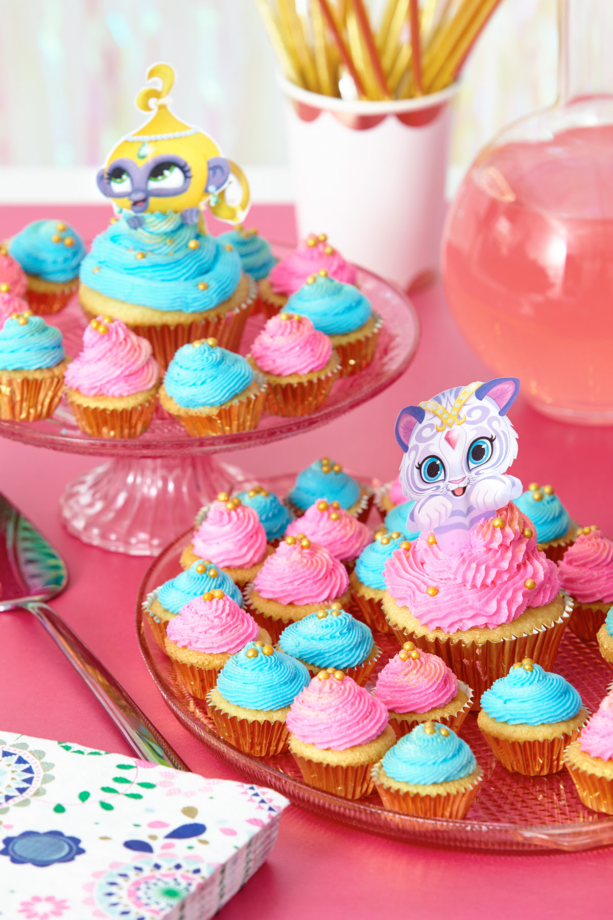 shimmerAndShine cupcakeToppers2x3