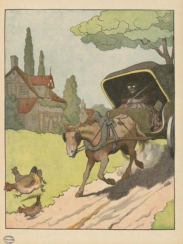 french anthropomorphic cartoon lithograph
