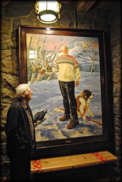 Art inside the Timberline Lodge