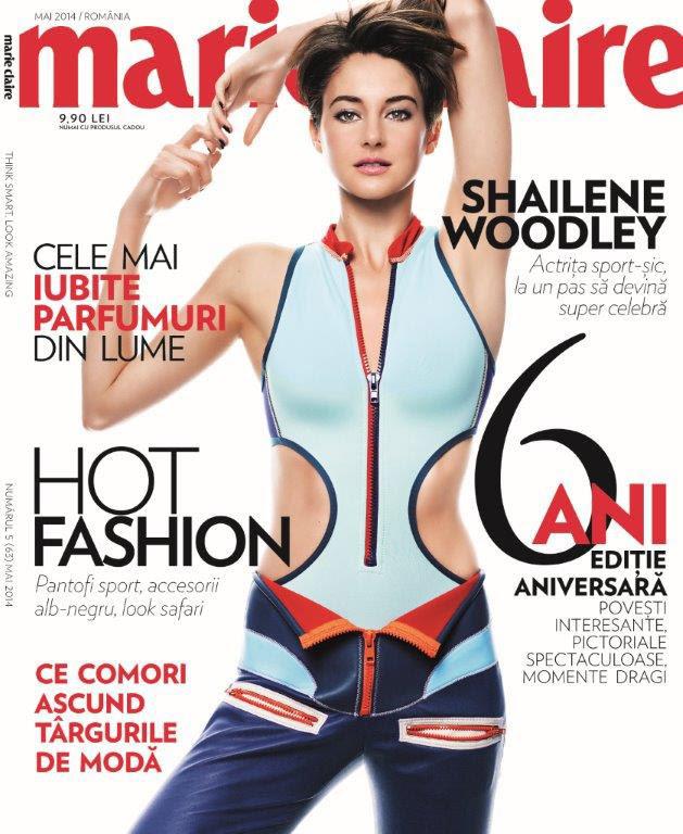 Marie Claire Romania ~~ Coperta: Shailene Woodley ~~ Mai 2014