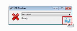 USB Disabler Setting menu