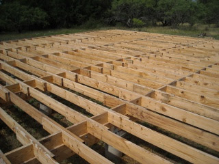 Middle of Completed Floor Joists