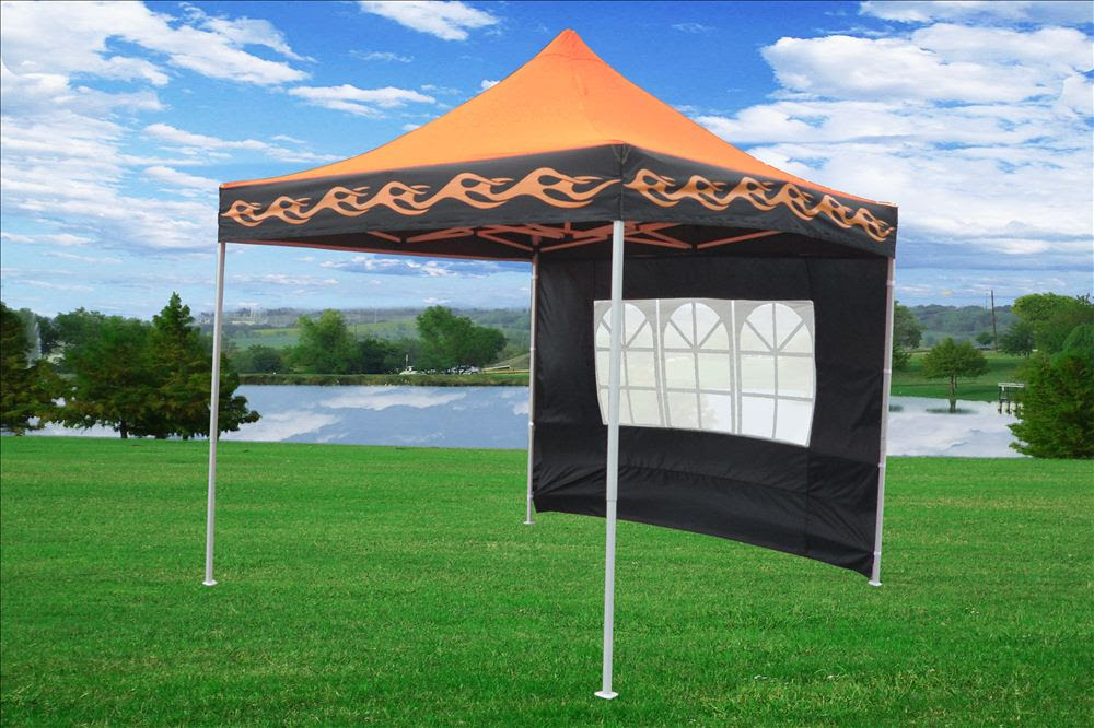 10 x 10 Orange Flame Pop Up Tent Canopy