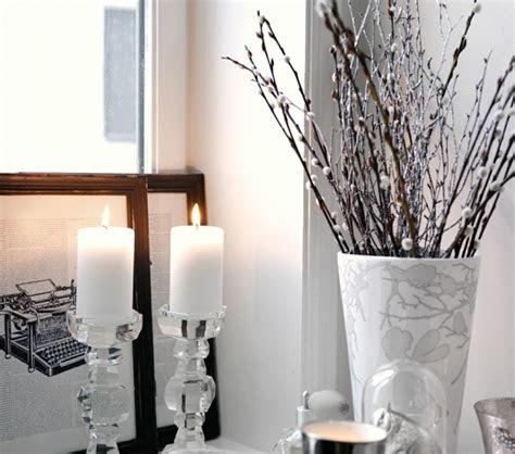 dekorieren im landhausstil schlafzimmer winter deko