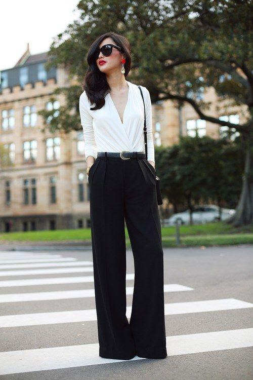 how to: wear a white top and black pants, and look nothing at all like you should be carrying a serving tray.