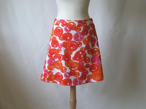 Orange skirt front
