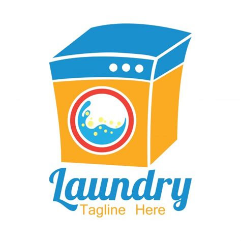 laundry logo  text space   slogan vector