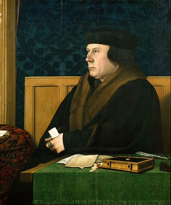 Portrait of Thomas Cromwell. (c. 1532 and 1533) By Hans Holbein the Younger.