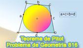 Problema de Geometría 816. Cuadrilátero circunscrito, teorema de Pitot.
