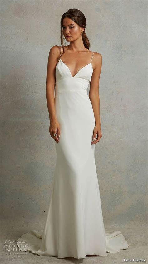 Best 25  Spaghetti strap wedding dress ideas on Pinterest