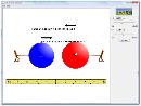 Screenshot of the simulation Εργαστήριο Βαρύτητας