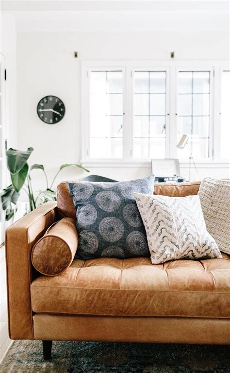tan brown leather sofa italian leather article sven