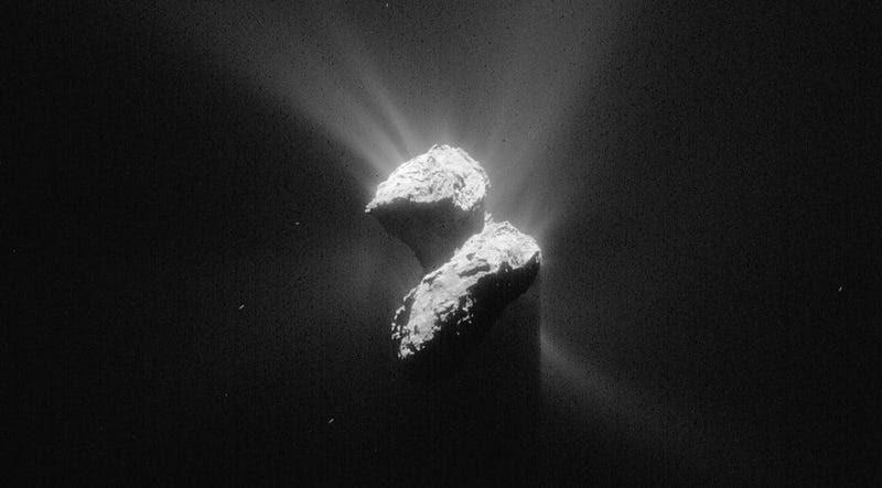 Descubren oxígeno en estado puro brotando del cometa de Rosetta