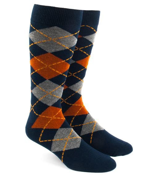 Orange Argyle Socks   Ties, Bow Ties, and Pocket Squares