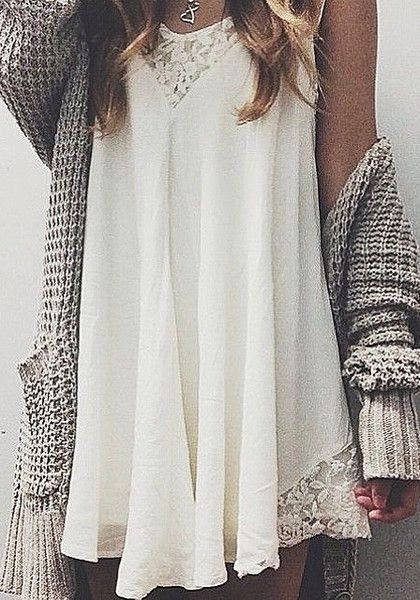 Split Away Lace Dress