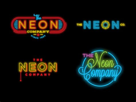 bright glowing neon sign logos creativeoverflow