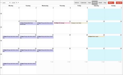 Calendar Template v2 untuk PHPRUNNER, ASPRUNNER dan ASPRUNNER.NET