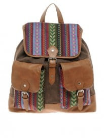 Asos Aztec Patch Backpack