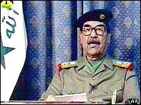 Saddam or body double?