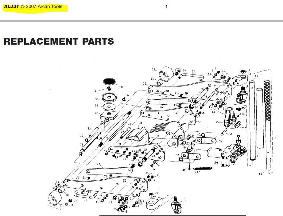 24 Info Hydraulic Jack Parts List