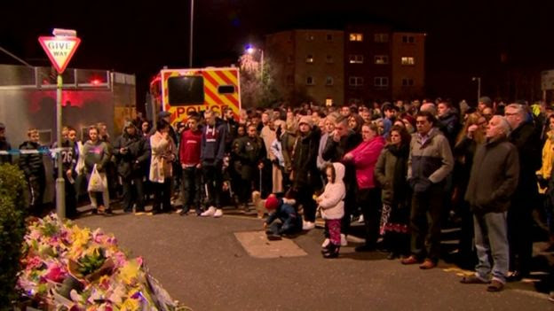 A vigil has been held in memory of the shopkeeper
