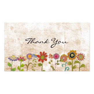 Flowers thank you business card templates