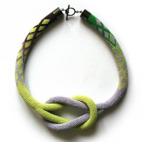 Lovely bead crochet rope necklace