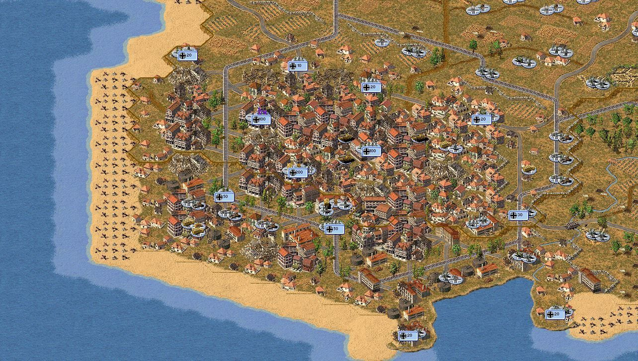 2D Mao View of Marseille 1944, a new 25 turn-length scenario for JTCS West Front.