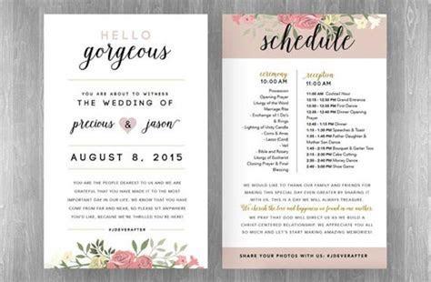 wedding reception program ideas   Wedding Decor Ideas