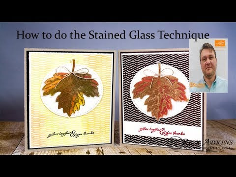 How to do the Stained Glass Technique featuring Stampin' Up! Products