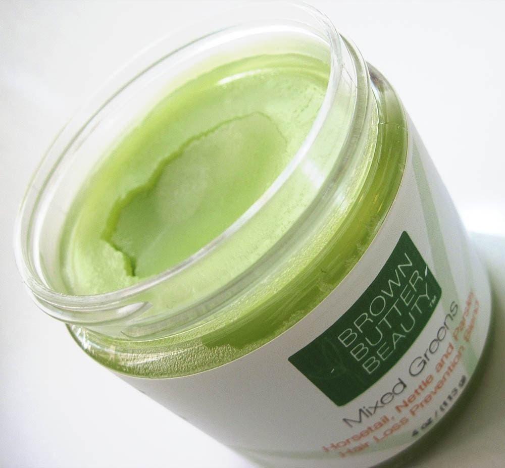 Mixed Greens - Horsetail, Nettle, Parsley Hair Butter - Hair Loss Prevention Blend - 4oz jar