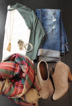fall fashion; baseball tee with ankle boots and boyfriend jeans;