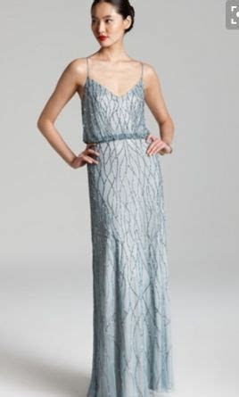 Adrianna Papell Beaded Blouson Gown, Size: 8   Bridesmaid